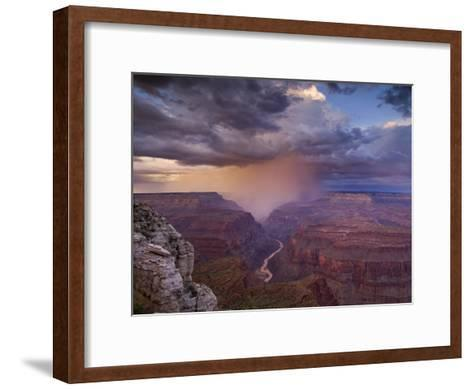 Monsoon Storm in the Grand Canyon-David Edwards-Framed Art Print