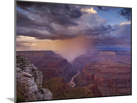 Monsoon Storm in the Grand Canyon-David Edwards-Mounted Photographic Print