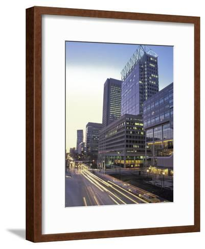 Time Exposure of Car Head and Taillights in Downtown Baltimore-Richard Nowitz-Framed Art Print