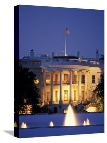 White House South Portico at Dusk-Richard Nowitz-Stretched Canvas Print
