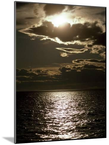 Setting Sun Pierces a Menacing Storm Front over the Atlantic-Jason Edwards-Mounted Photographic Print