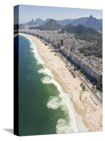 Dangerous and Deadly Rip Currents Along the Coast of Rio De Janeiro-Mike Theiss-Stretched Canvas Print