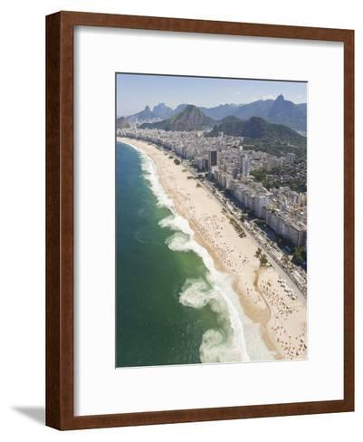 Dangerous and Deadly Rip Currents Along the Coast of Rio De Janeiro-Mike Theiss-Framed Art Print