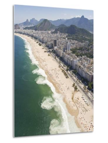 Dangerous and Deadly Rip Currents Along the Coast of Rio De Janeiro-Mike Theiss-Metal Print