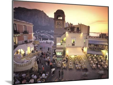 Piazza Umberto, Town Center Promenade with a View of Anacapri-Richard Nowitz-Mounted Photographic Print