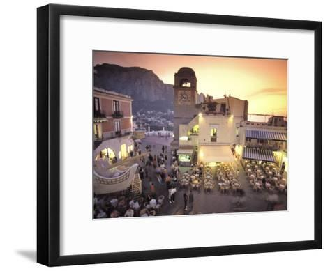 Piazza Umberto, Town Center Promenade with a View of Anacapri-Richard Nowitz-Framed Art Print