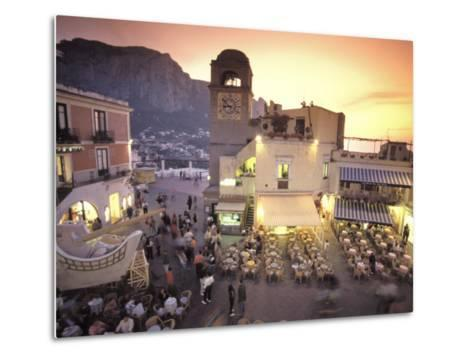 Piazza Umberto, Town Center Promenade with a View of Anacapri-Richard Nowitz-Metal Print