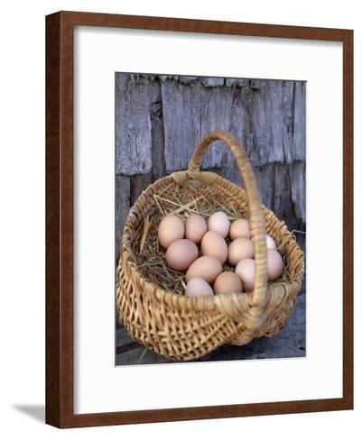 Basket of Brown Eggs-Michael Melford-Framed Art Print