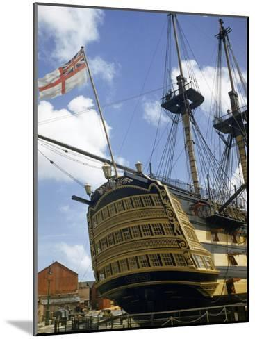 Low Angle View of the Stern of HMS Victory-B^ Anthony Stewart-Mounted Photographic Print