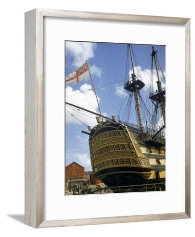 Low Angle View of the Stern of HMS Victory-B^ Anthony Stewart-Framed Art Print