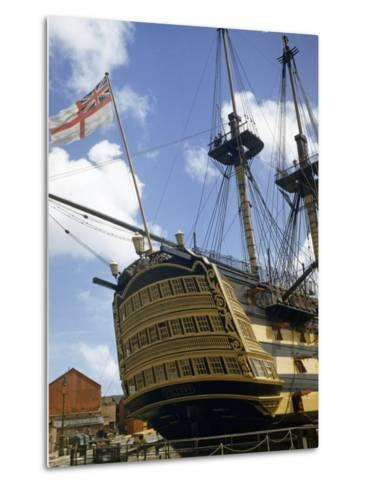 Low Angle View of the Stern of HMS Victory-B^ Anthony Stewart-Metal Print