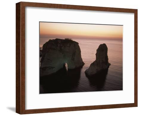 Rock Formation in the Mediterranean Sea-David Evans-Framed Art Print