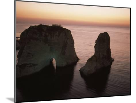 Rock Formation in the Mediterranean Sea-David Evans-Mounted Photographic Print