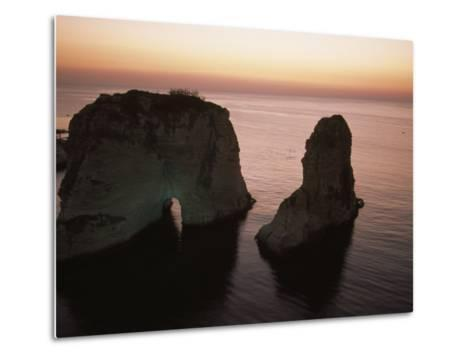 Rock Formation in the Mediterranean Sea-David Evans-Metal Print