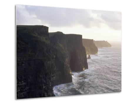 Cliffs of Moher Overlooking the Atlantic-xPacifica-Metal Print