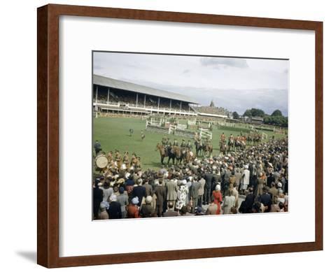Jumping Teams Pass in Review at the Dublin Horse Show-Maynard Owen Williams-Framed Art Print