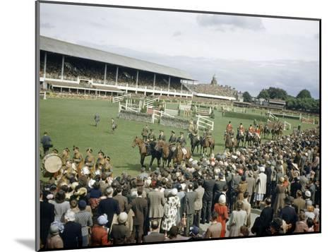 Jumping Teams Pass in Review at the Dublin Horse Show-Maynard Owen Williams-Mounted Photographic Print