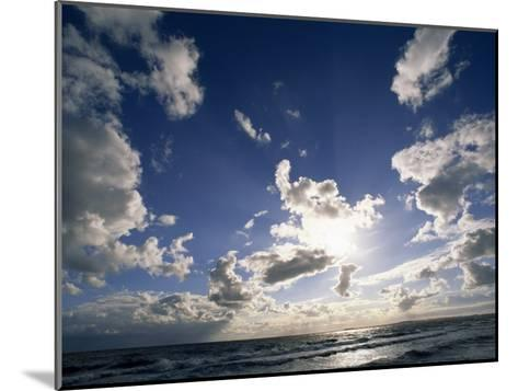 Beach with Gentle Surf under a Sky Filled with Puffy Clouds-Norbert Rosing-Mounted Photographic Print