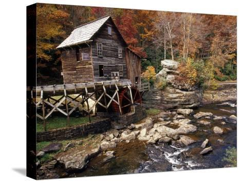 Fully Operational Grist Mill Sells its Products to Park Visitors-Raymond Gehman-Stretched Canvas Print