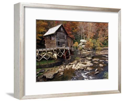 Fully Operational Grist Mill Sells its Products to Park Visitors-Raymond Gehman-Framed Art Print