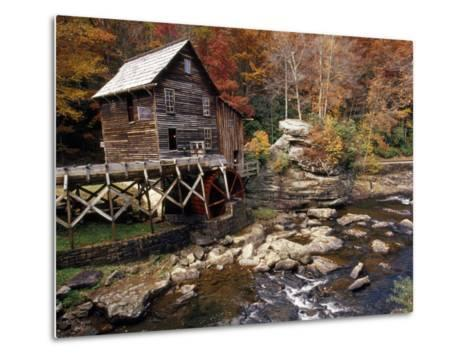 Fully Operational Grist Mill Sells its Products to Park Visitors-Raymond Gehman-Metal Print