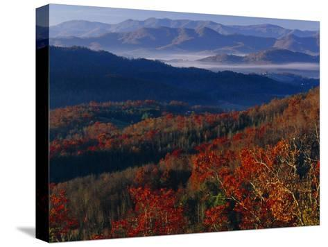 Sunrise View from Meadow Creek Lookout, and Ridges of Bald Mountains-Raymond Gehman-Stretched Canvas Print