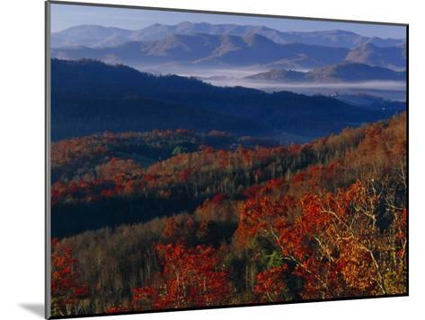 Sunrise View from Meadow Creek Lookout, and Ridges of Bald Mountains-Raymond Gehman-Mounted Photographic Print