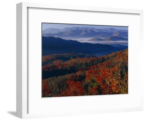 Sunrise View from Meadow Creek Lookout, and Ridges of Bald Mountains-Raymond Gehman-Framed Art Print