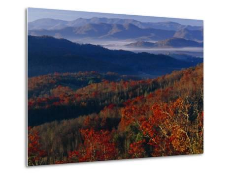 Sunrise View from Meadow Creek Lookout, and Ridges of Bald Mountains-Raymond Gehman-Metal Print