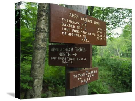 Signs Along the Appalachian Trail-Michael Melford-Stretched Canvas Print