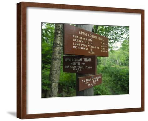Signs Along the Appalachian Trail-Michael Melford-Framed Art Print