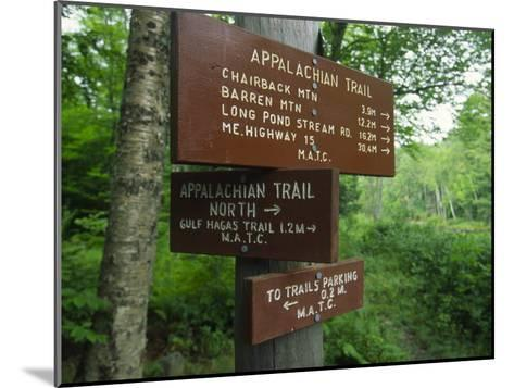 Signs Along the Appalachian Trail-Michael Melford-Mounted Photographic Print