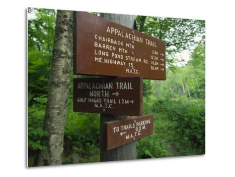 Signs Along the Appalachian Trail-Michael Melford-Metal Print