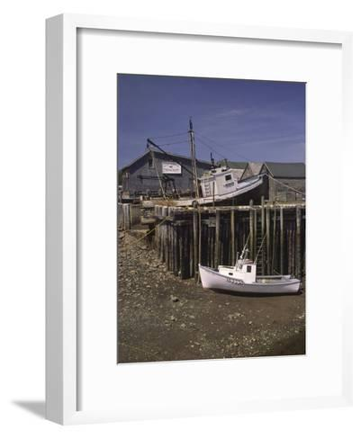 Low Tide at Halls Harbor in the Bay of Fundy-Michael Melford-Framed Art Print
