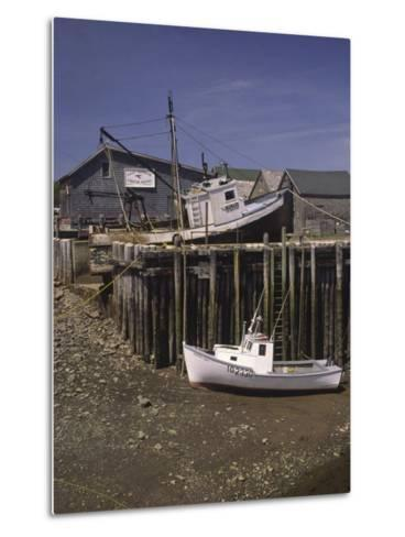 Low Tide at Halls Harbor in the Bay of Fundy-Michael Melford-Metal Print