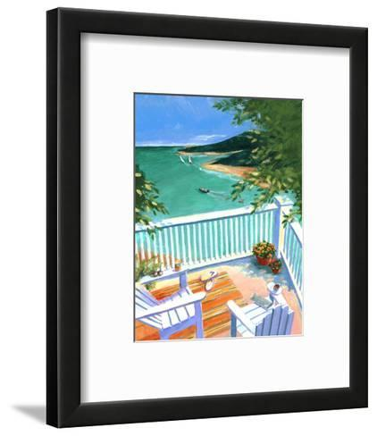 Lake View from the Terrace--Framed Art Print