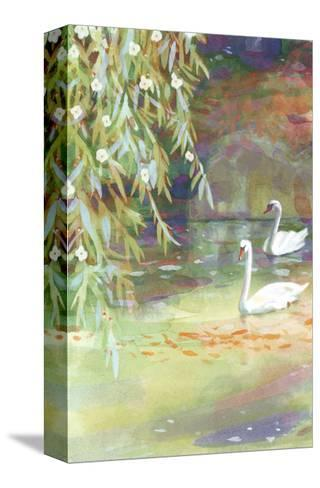 Two Swans--Stretched Canvas Print