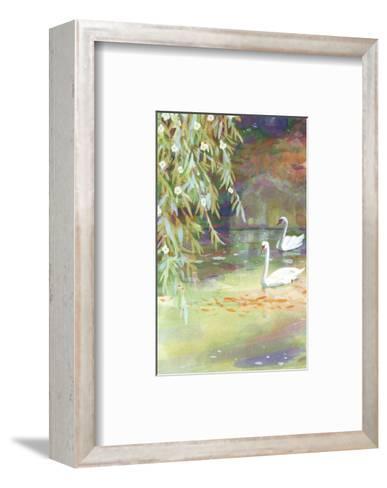 Two Swans--Framed Art Print