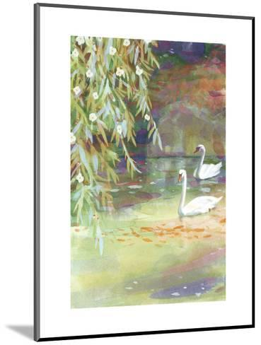 Two Swans--Mounted Art Print