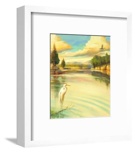 Lake Scene with Heron--Framed Art Print