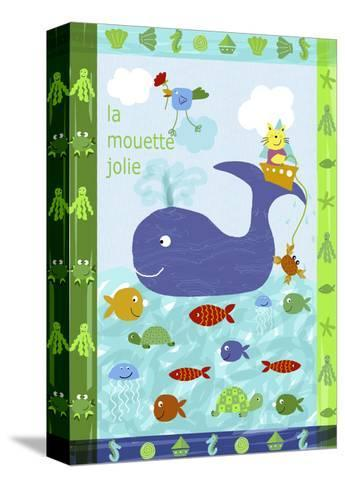 Cute Sea Creatures--Stretched Canvas Print
