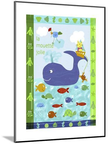 Cute Sea Creatures--Mounted Art Print