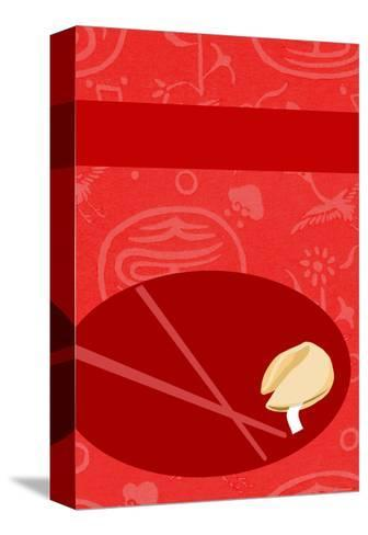 Fortune Cookie with Chopsticks--Stretched Canvas Print