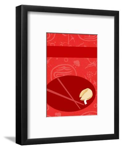Fortune Cookie with Chopsticks--Framed Art Print