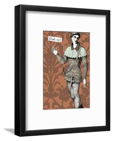 Hip Ancient Statue Waving--Framed Art Print