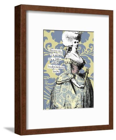 Victorian Woman with Coy Smile--Framed Art Print