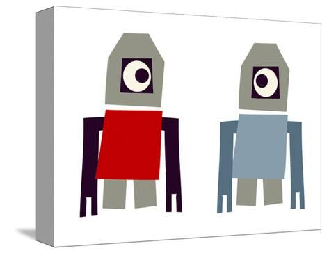 Two Robots--Stretched Canvas Print