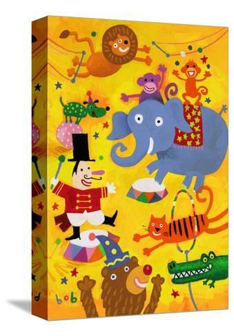 Crazy Circus Characters--Stretched Canvas Print
