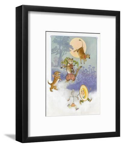 Hey Diddle Diddle Mother Goose--Framed Art Print