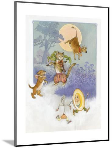 Hey Diddle Diddle Mother Goose--Mounted Art Print